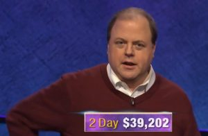 Dennis Coffey, today's Jeopardy! winner (for the January 20, 2020 game.)