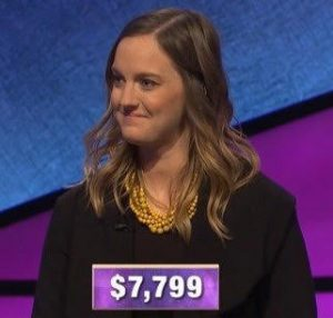 Heather Nelson, today's Jeopardy! winner (for the January 24, 2020 game.)