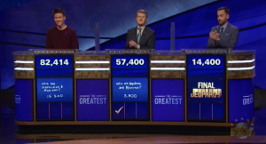 Today's Jeopardy! Greatest of All Time result (for January 8, 2020.)