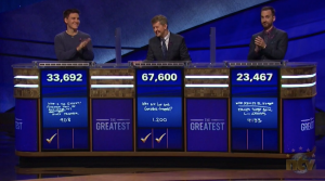 Tonight's Jeopardy! Greatest of All Time result (for May 12, 2020.)