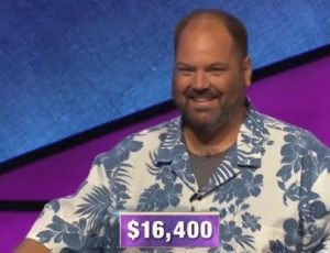 Joshua Swiger, today's Jeopardy! winner (for the January 29, 2020 game.)