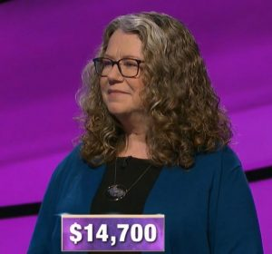 Lisa Warne-Magro, today's Jeopardy! winner (for the January 7, 2020 game.)