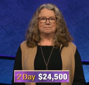 Lisa Warne-Magro, today's Jeopardy! winner (for the January 8, 2020 game.)