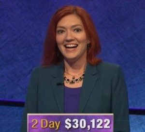 Michelle Paul, today's Jeopardy! winner (for the January 31, 2019 game.)