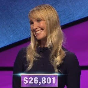 Sarah Frontiera, today's Jeopardy! winner (for the January 27, 2020 game.)