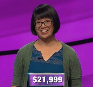 Veronica Vichit-Vadakan, today's Jeopardy! winner (for the January 13, 2020 game.)