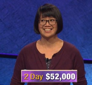 Veronica Vichit Vadakan, today's Jeopardy! winner (for the January 14, 2020 game.)
