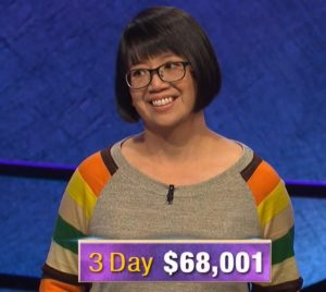 Veronica Vichit-Vadakan, today's Jeopardy! winner (for the January 15, 2020 game.)