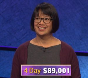 Veronica Vichit-Vadakan, today's Jeopardy! winner (for the January 16, 2020 game.)