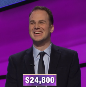 Aaron Goetsch, today's Jeopardy! winner (for the February 27, 2020 game.)