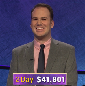 Aaron Goetsch, today's Jeopardy! winner (for the February 28, 2020 game.)