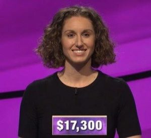 Brooke MacKenzie, today's Jeopardy! winner (for the February 13, 2020 game.)