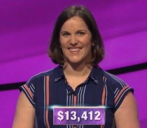 Danyelle Long-Hyland, today's Jeopardy! winner (for the February 11, 2020 game.)