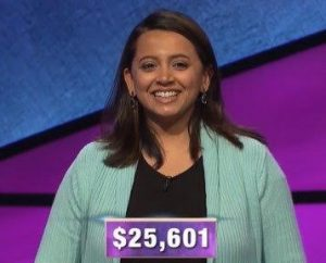 Gauravi Shah, today's Jeopardy! winner (for the February 7, 2020 game.)
