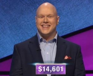 Josh Gruenberg, today's Jeopardy! winner (for the February 12, 2020 game.)
