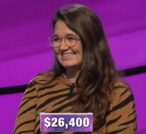 MacKenzie Jones, today's Jeopardy! winner (for the February 17, 2020 game.)