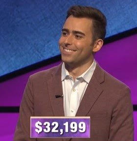 Patrick Rice, today's Jeopardy! winner (for the February 6, 2020 game.)