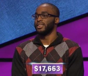 Terry Heard, Jr., today's Jeopardy! winner (for the February 14, 2020 game.)