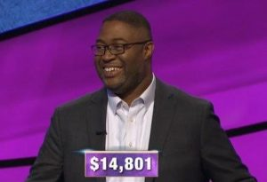 Travis Gaylord, today's Jeopardy! winner (for the February 3, 2020 game.)
