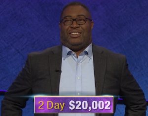 Travis Gaylord, today's Jeopardy! winner (for the February 4, 2020 game.)