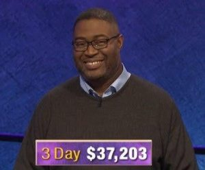 Travis Gaylord, today's Jeopardy! winner (for the February 5, 2020 game.)