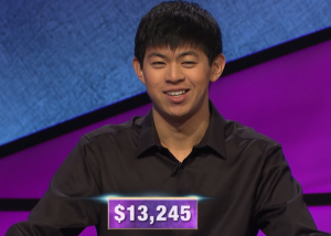 Bruce Lou, today's Jeopardy! winner (for the March 2, 2020 game.)