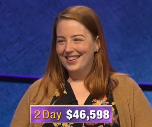 Jessica Babbitt, today's Jeopardy! winner (for the March 12, 2020 game.)
