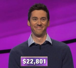Nick Klotz, today's Jeopardy! winner (for the March 24, 2020 game.)