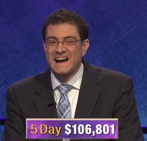 Paul Trifiletti, today's Jeopardy! winner (for the March 10, 2020 game.)