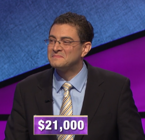 Paul Trifiletti, today's Jeopardy! winner (for the March 4, 2020 game.)