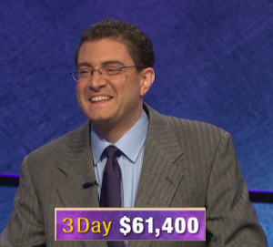 Paul Trifiletti, today's Jeopardy! winner (for the March 6, 2020 game.)