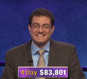 Paul Trifiletti, today's Jeopardy! winner (from the March 9, 2020 game.)