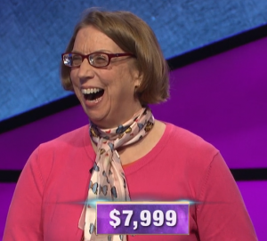 Susan Alden, today's Jeopardy! winner (for the March 26, 2020 game.)