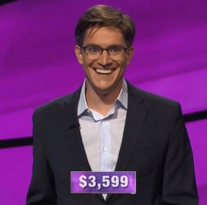 Andrew Cramer, today's Jeopardy! winner (for the April 20, 2020 game.)