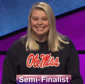 Londyn Lorenz, today's Jeopardy! winner (for the April 8, 2020 game.)