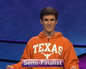Marshall Comeaux, today's Jeopardy! winner (for the April 6, 2020 game.)