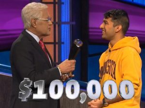 Nibir Sarma, today's Jeopardy! winner (for the August 28, 2020 game.)