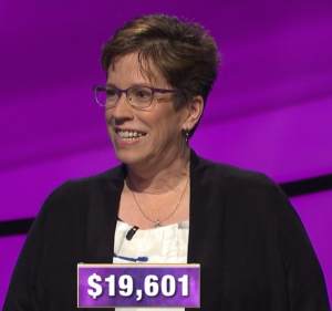 Sharon Lawson, today's Jeopardy! winner (for the April 22, 2020 game.)