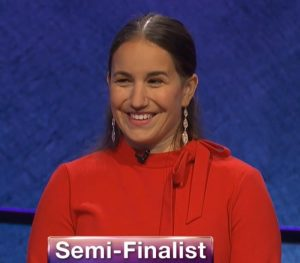 Amanda Baltimore, today's Jeopardy! winner (for the May 25, 2020 game.)