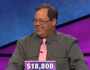 Ben Scripps, today's Jeopardy! winner (for the May 18, 2020 game.)