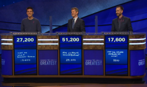Today's Jeopardy! final scores (for the May 11, 2020 game.)