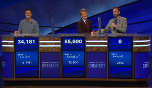 Today's Jeopardy! scores (for the May 13, 2020 game.)