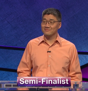 Jong Ho Kim, today's Jeopardy! winner (for the May 29, 2020 game.)