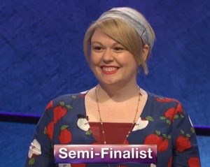 Meggie Kwait, today's Jeopardy! winner (for the May 26, 2020 game.)