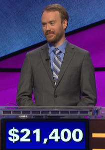 Morgan Wilbanks, today's Jeopardy! winner (for the May 22, 2020 game.)
