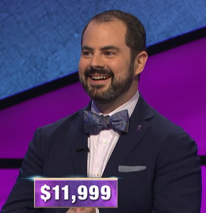 Nathan Berger, today's Jeopardy! winner (for the May 20, 2020 game.)