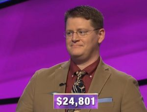 Shawn Buell, today's Jeopardy! winner (for the May 21, 2020 game.)