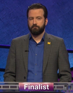Ben Henri, today's Jeopardy! winner (for the June 3, 2020 game.)