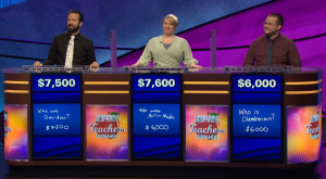 Today's Jeopardy! final scores (for the June 4, 2020 game.)