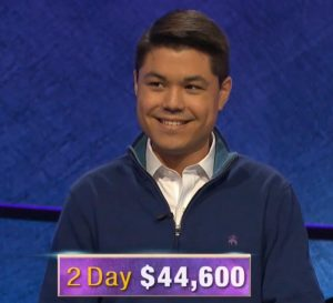 Zach Newkirk, today's Jeopardy! winner (for the June 10, 2020 game.)